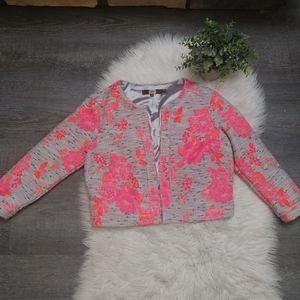 Eva Franco from Anthropologie floral blazer jacket